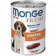 Monge Dog Fresh Chunks in Loaf консервы для собак мясной рулет с уткой 400 гр, банка Ижевск