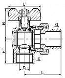 Кран шаровой угловой с полусгоном AxFCB Lavita доставка из г.Екатеринбург